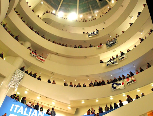 Protesters Take Over The Guggenheim To Protest Shady Labor Practices