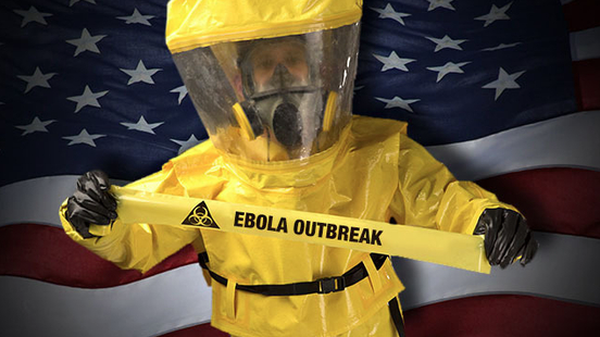 Provide healthcare workers with hazmat suits and implement proper decontamination protocol to fight Ebola
